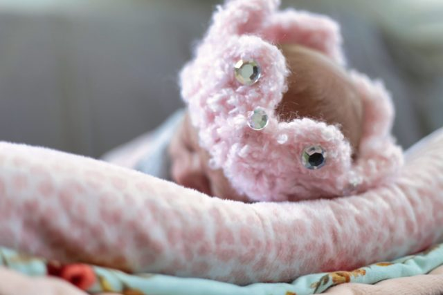 pink newborn crown